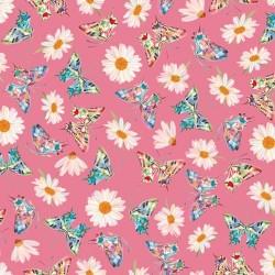 Daisy & Butterfly Toss - PINK
