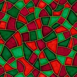 Stained Glass - GREEN/RED