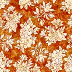 Floral Bouquet - BURNT ORANGE