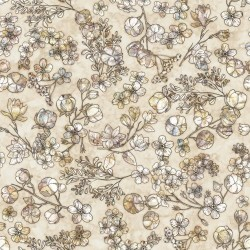 Floral & Cotton - TAUPE