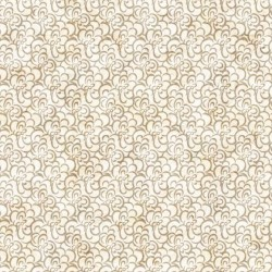 Floral Scroll - CREAM/GOLD