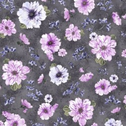 Spaced Floral - CHARCOAL