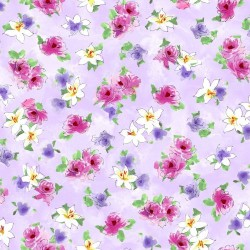 Tossed Watercolour Floral - LILAC
