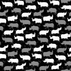 Rhino Sihouettes - BLACK