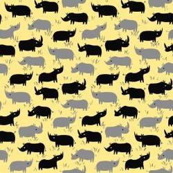 Rhino Sihouettes - YELLOW