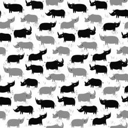 Rhino Sihouettes - WHITE