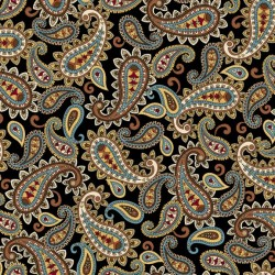 Packed Paisley - BLACK