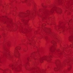 Paisley Toile - RED