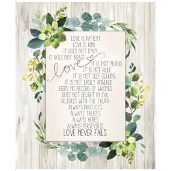 Love Never Fails Panel (90cm) - GRAY