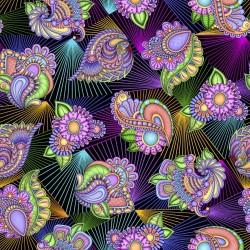 Floral Paisley Prism - BLACK
