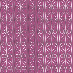 Decorative Dotted Stripe - RASPBERRY