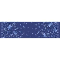 Leaves Double Border - NAVY