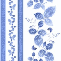 Leaves Decorative Stripe - WHITE