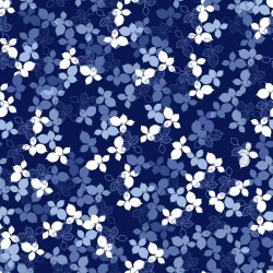 Packed Leaves - NAVY