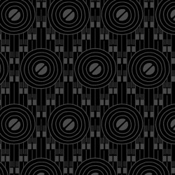 Deco Circles - BLACK