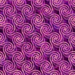 Circle Swirls 130/70 Weave - MAGENTA