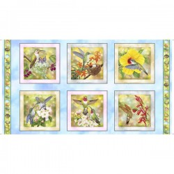 Panel - Hummingbird Picture Patches 60cm  - BLUE SKY