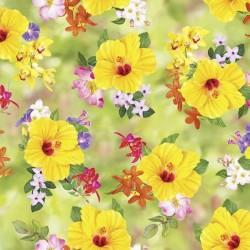 Floral Toss - LT GREEN