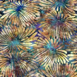 Large Floral 130/70 Weave - BLUE/CREAM