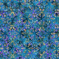 Pinwheel Floral 130/70 Weave - BLUE