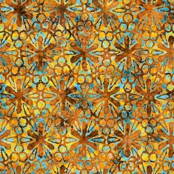 Pinwheel Floral 130/70 Weave- BURNT ORANGE
