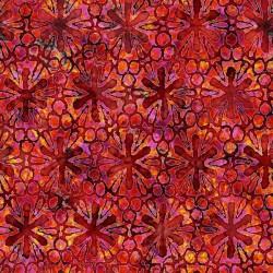 Pinwheel Floral 130/70 Weave- RED