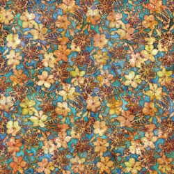 Small Floral 130/70 Weave- TURQUOISE