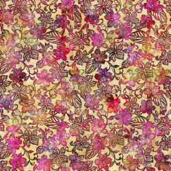 Small Floral 130/70 Weave - YELLOW