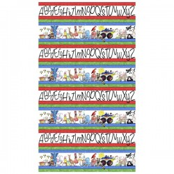 Panel - Alphabet Stripe 60cm - MULTI