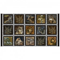 Panel - Wolf Picture Patches 60cm - GRAY