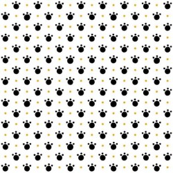 Paw Prints - WHITE