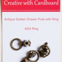 RS Drawer Pulls -A/Gold 3pk
