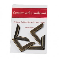 RS Book Corners Maxi-A/Gold 4pk