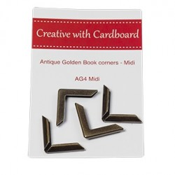 RS Book Corners Midi-A/Gold 4pk