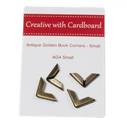 RS Book Corners Small-A/Gold 4pk