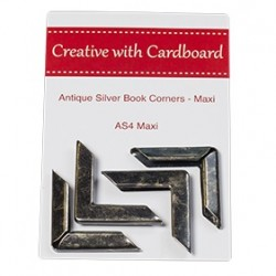 RS Book Corners Maxi-A/Silver 4pk
