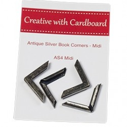 RS Book Corners Midi-A/Silver 4pk