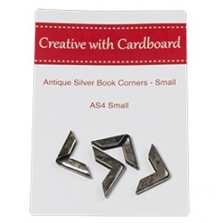 RS Book Corners Small-A/Silver 4pk