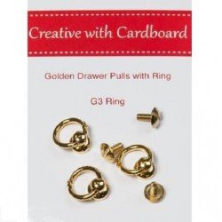 RS Drawer Pulls -Gold 3pk