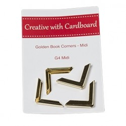 RS Book Corners Midi-Gold 4pk