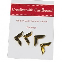 RS Book Corners Small-Gold 4pk