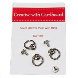 RS Drawer Pulls -Silver 3pk