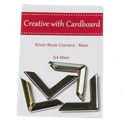 RS Book Corners Maxi-Silver 4pk