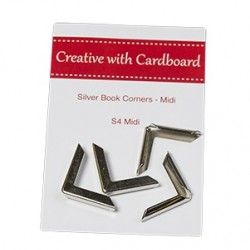 RS Book Corners Midi-Silver 4pk