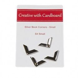 RS Book Corners Small-Silver 4pk