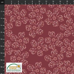 Avalana Jersey Organic 160cm Wide Flower Shapes - DK PINK