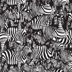 Avalana Sweat Brushed 160cm Wide Zebra - BLACK