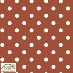 Avalana Jersey 160cm Wide Big Dots - RUST