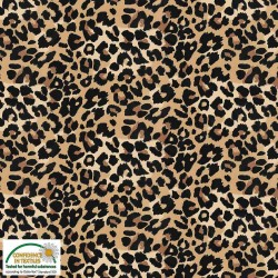 Avalana Jersey 160cm Wide Animal Print  - BROWN