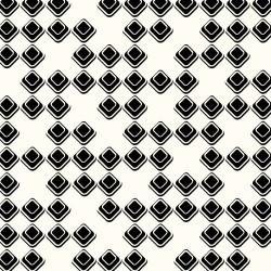 DIAMONDS JERSEY KNIT - BLACK/WHITE 160cm wide